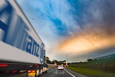 Allianz Truck Car Insurance Rolling Shot by Alurkoff Photography