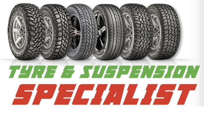 Car Servicing and TYRE AND SUSPENSION